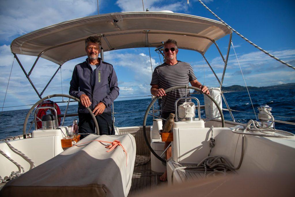 brendan and matt sailing mystic II