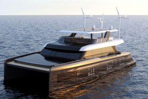 wind turbines yacht