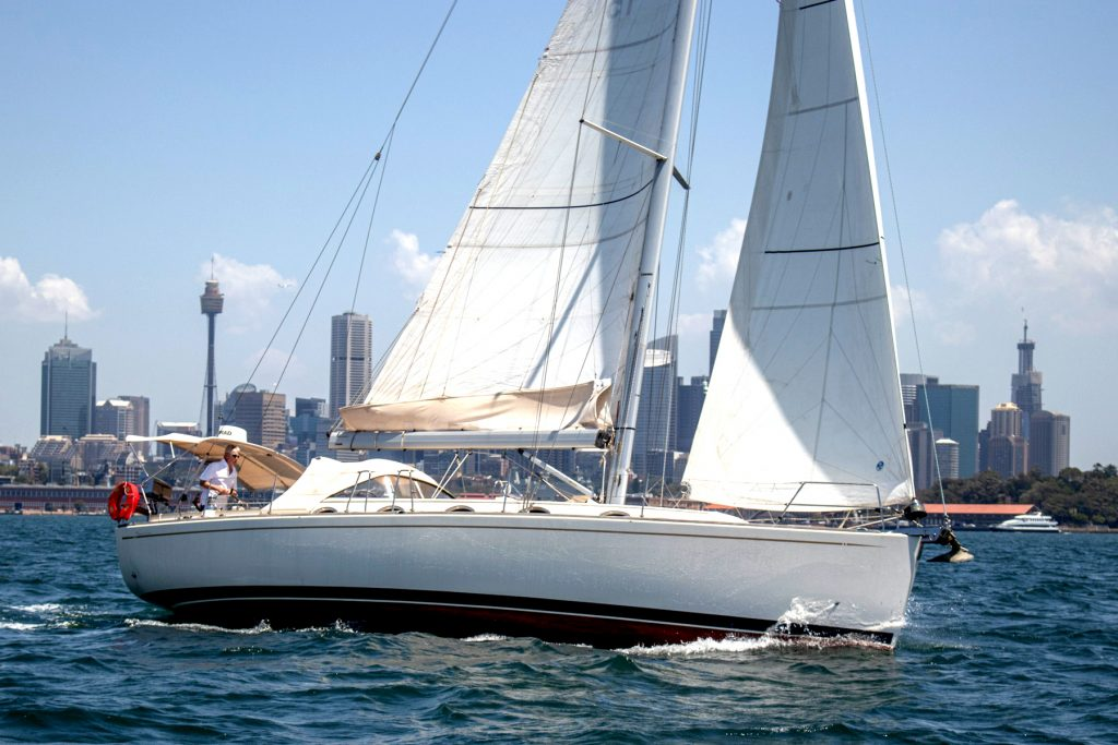 "moody 41 named Mystic II""sailing at Sydney Harbour"