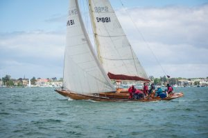 classic yacht caraid sailing